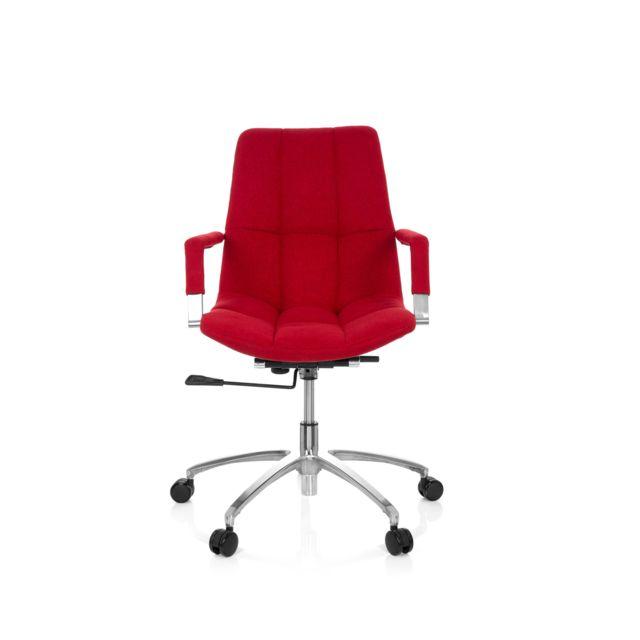Chaise de bureau siege pivotant Saranto tissu rouge
