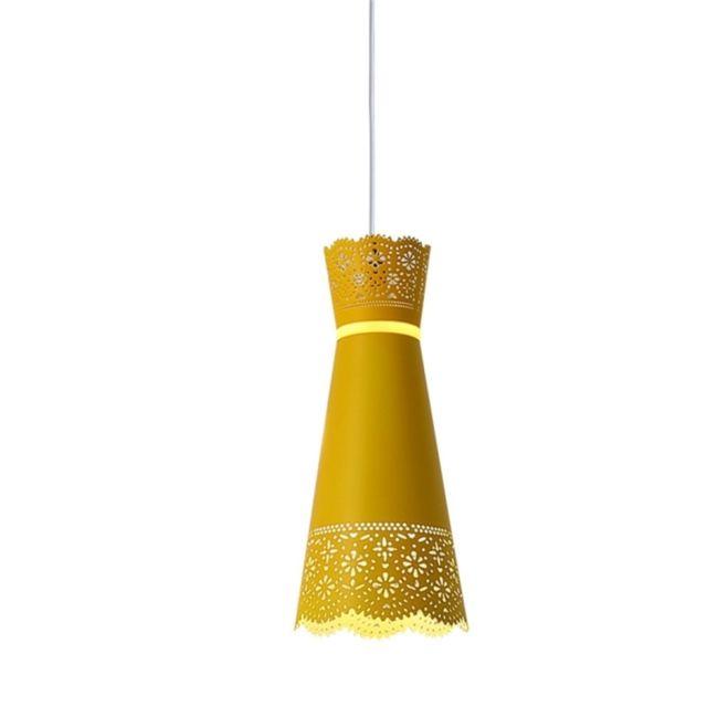 Lampe Suspendue Luminaire Salon Home Pendentif De Chevet Vetement Robe Minimaliste Moderne En Macaron Couleur Jaune Taille Blanc Chaud
