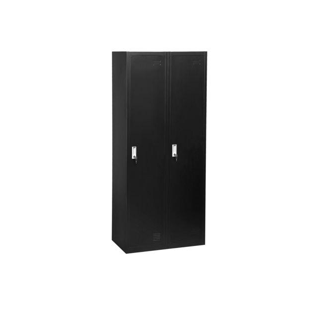 BELIANI Armoire en métal noir OHRID - noir