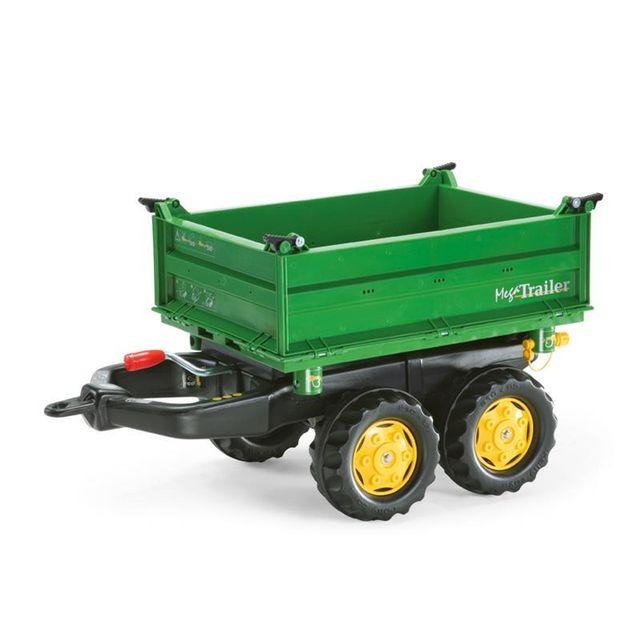 32a9c9b1aba781 Rolly Toys - 122004 RollyMega Trailer, John Deere vert - pas cher Achat   Vente  Véhicule à pédales - RueDuCommerce