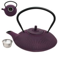 Trend - Theiere en Fonte emaillée Kyoto violet 80 cl