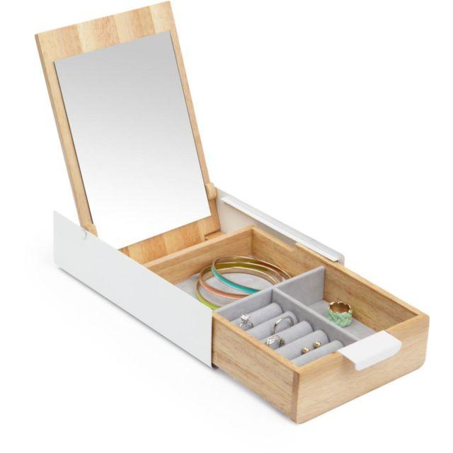 umbra boite bijoux avec miroir reflexion pas cher achat vente coffrets bijoux. Black Bedroom Furniture Sets. Home Design Ideas