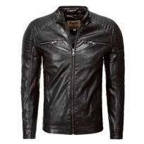 Marque Generique - Veste stylé en cuir homme Veste 1004 noir