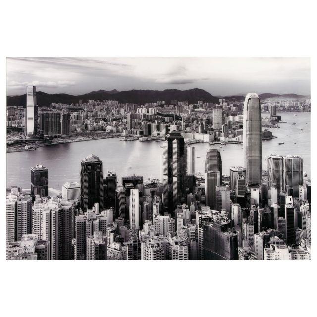 Atmosphera, Createur D'INTERIE Toile photo plexiglas City - 80 x 120 cm - Gris