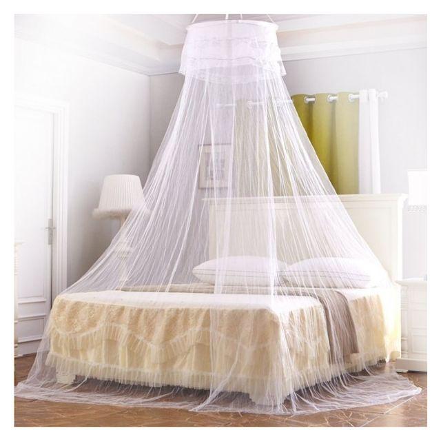 Alpexe moustiquaire ciel de lit baldaquin pour lit double blanc pas cher achat vente - Moustiquaire baldaquin pour lit double ...