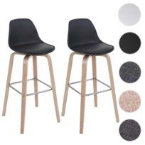 Mendler - 2x tabouret de bar Hwc-a89, chaise de comptoir avec dossier ~ 40496d9bccbf