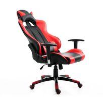HOMCOM - Fauteuil de bureau manager grand confort style baquet Racing pivotant inclinable avec coussins rouge noir neuf 37RD