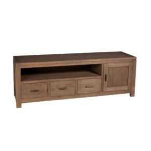 meuble tv 3 tiroirs bas en mindi pas cher achat vente meuble tv rueducommerce. Black Bedroom Furniture Sets. Home Design Ideas