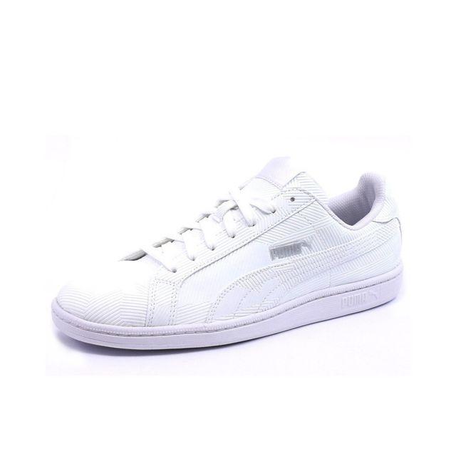 best website be70b 0abba Puma - Chaussures Smash Deboss Blanc Homme Puma Multicouleur 40