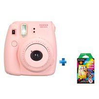 FUJI - Pack Instax mini 8 rose + film rainbow