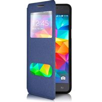Karylax - Housse Coque Etui S-view Fonction Support Couleur Bleu pour Samsung Galaxy Grand Prime