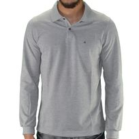 Calvin Klein - Polo Manches Longues - Homme - Pete Fitted 300054 - Gris Chiné