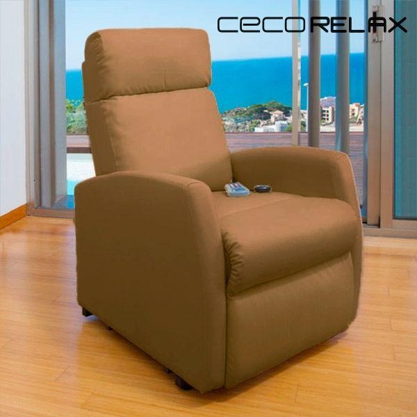 sans marque fauteuil de relaxation massant cecorelax compact camel 6019 pas cher achat. Black Bedroom Furniture Sets. Home Design Ideas