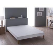 sommier sans pied achat sommier sans pied pas cher soldes rueducommerce. Black Bedroom Furniture Sets. Home Design Ideas