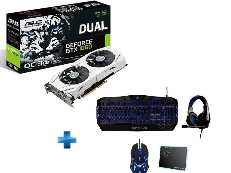 GeForce DUAL GTX 1060 03GB version OC + PACK COMPLET OFFERT