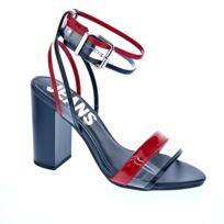 b4409a96925 Tommy hilfiger - Chaussures Femme Sandales modele Transparent Rwb Heeled