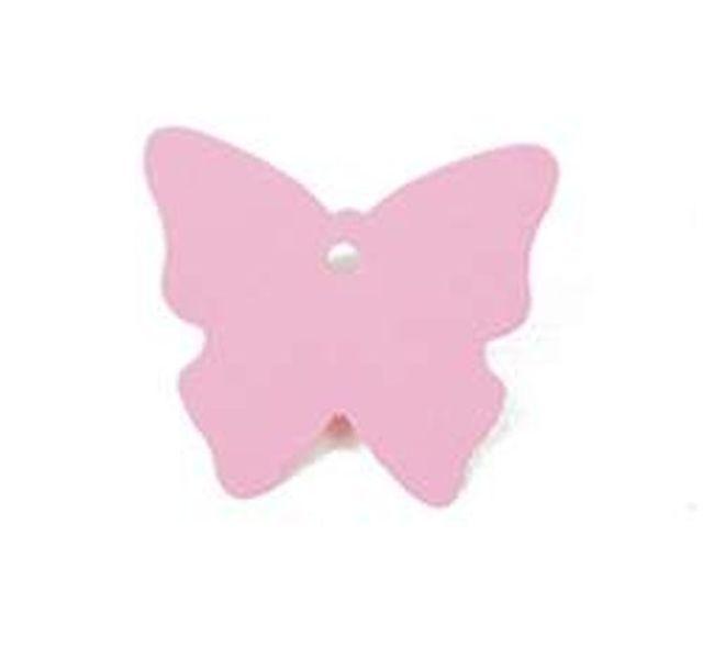 1001decotable etiquette papillon vitamine rose x4 61381436501