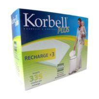 Korbell - Recharges à couches x3 pour poubelle 26L