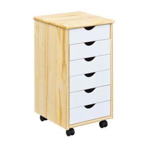 Paris prix caisson de bureau 6 tiroirs loviza 65cm for Bureau 6 tiroirs