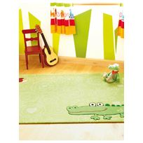 SIGIKID - Tapis HAPPY ZOO CROCODILE Tapis Enfants par vert 70 x 140 cm