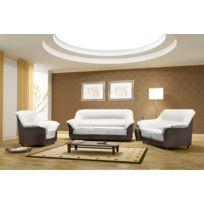 Relax design - Fauteuil Cindy ivoir/choco sofa divan