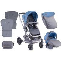 Lorelli - Poussette combinée 3 en 1 avec siège auto 0+ S500 Set bleu
