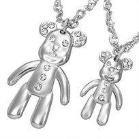 Renobijoux - Collier Teddy Bear Fantaisie Zirconias