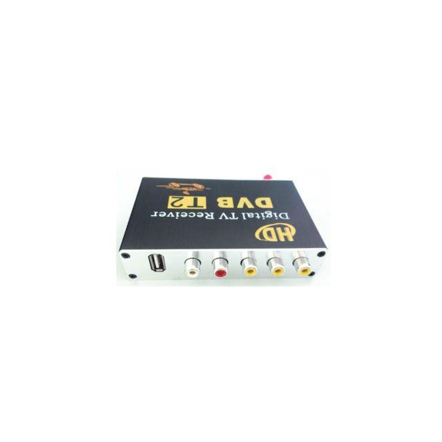 Auto-hightech Tuner de voiture récepteur de télévision Hd numérique 60KM / H - Noir