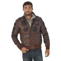 Redskins - Blouson aviateur en cuir camel/cognac - PERRY LIVERPOOL- S