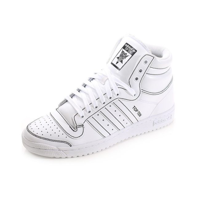 shop best sellers 100% authentic popular brand Adidas - Chaussures Top Ten Montante Blanc Homme ...
