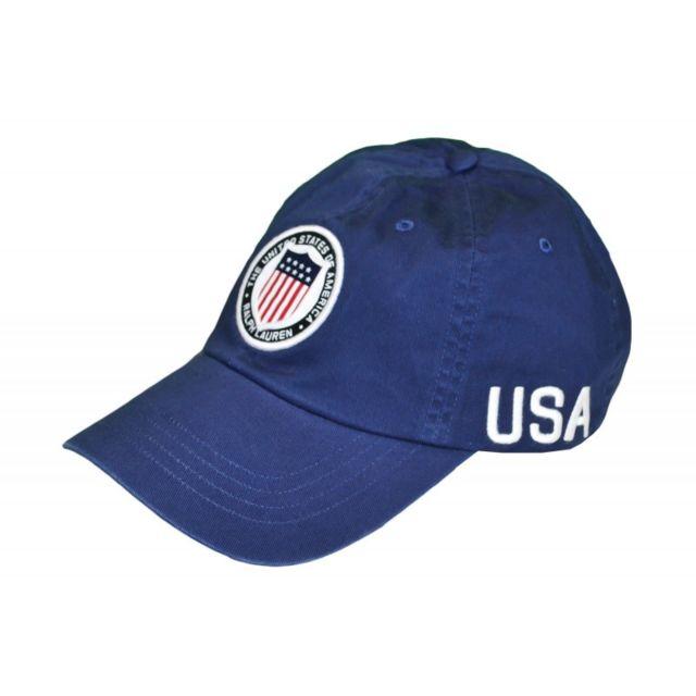 Ralph Lauren - Casquette Usa bleu marine pour homme - pas cher Achat   Vente  Casquettes, bonnets, chapeaux - RueDuCommerce e1cda3f5d41