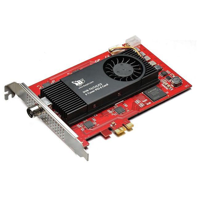 TBS TBS6209 Carte PCIe Octa 8 tuner TV DVB-T2 / C2 / T / C / ISDB-T - Carte professionnelle numérique pour Recevoir les Chaî