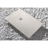 Sanycces - Receveur de douche à poser en Luxtone - beige - 70x90 cm - Strato
