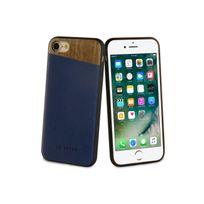 So Seven - Dandy Coque Bois + Pu Bleu Nuit- Apple Iphone 7