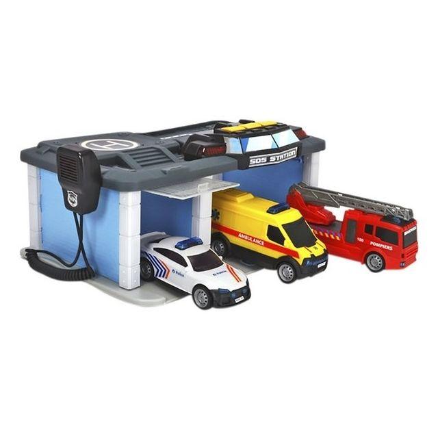 Dickie Coffret 3 Vehicules + Centre De Secours Avec Son Et Lumiere - Jouet Enfant Electronique
