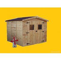 Habrita - Abri de jardin en bois Ed 2.40 x 2.40 m Dimensions : Dimensions hors tout : 2,70 m x 2,67 m