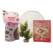 AGROBIOTHERS - Kit aquarium boule plastique 8 litres