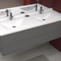 Creazur - Plan double vasque en résine RÉSIPLAN - 140 cm
