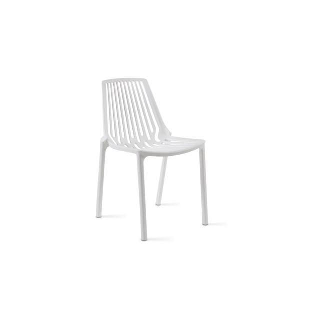 Ajourée Jardin Plastique En Blanc Chaise De T3K1lJcF