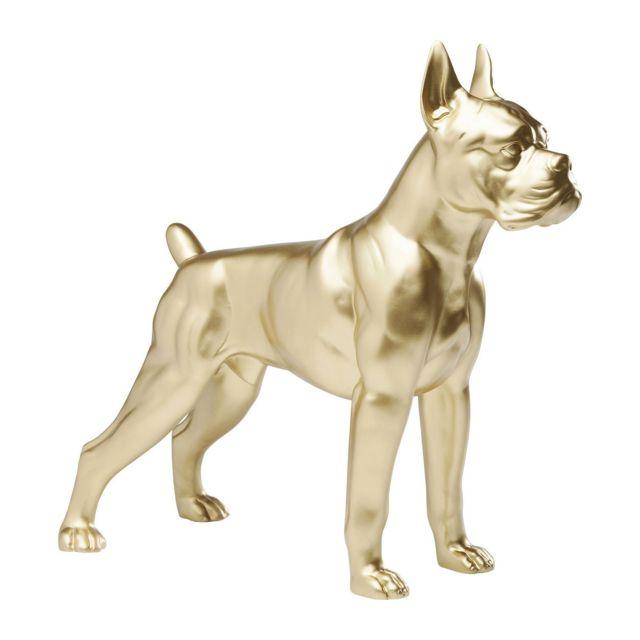 Karedesign Déco chien Toto dorée 44 cm Kare Design