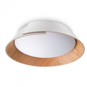 Philips plafonnier design bois nonagon led d50 cm for Plafonnier bois