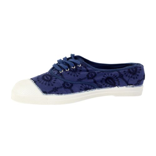 Bensimon Tennis  Broderie Anglaise Bleu - Livraison Gratuite avec  - Chaussures Tennis Femme