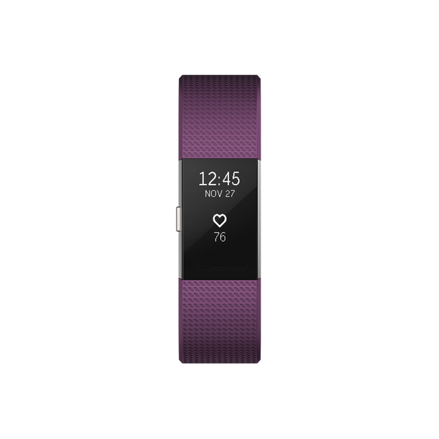 FITBIT - Charge 2 Argent - Bracelet Prune Taille S