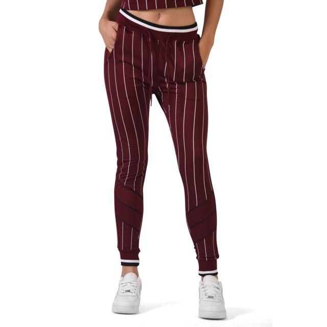 design distinctif nouveau sélection remise spéciale Project X - Pantalon de jogging imprimé à rayures Femme ...
