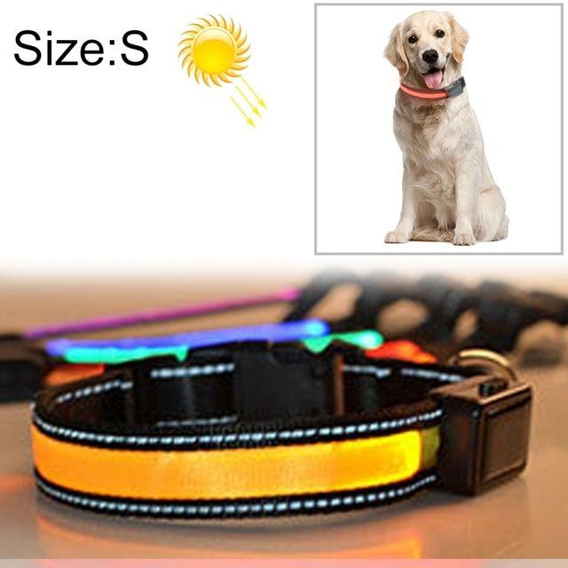 Wewoo Collier de lumière à Del de charge solaire pour animaux de compagnie, moyen et grand, pour animal de compagnie, tour de