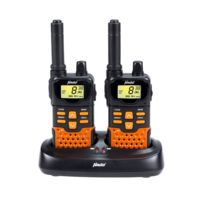 Alecto - Jeu de talkies-walkies jumeaux Fr-70 noir et orange