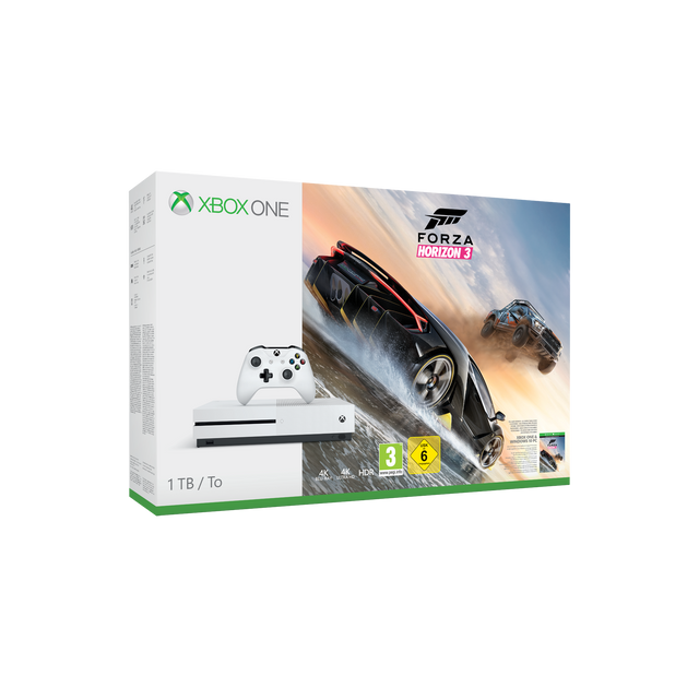 microsoft xbox one s 1 to forza horizon 3 pas cher achat vente console xbox one. Black Bedroom Furniture Sets. Home Design Ideas