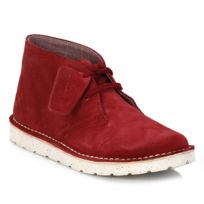 Clarks - Womens Cherry Desert Aerial Suede Boots-UK 3