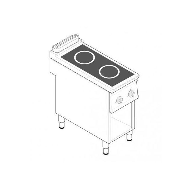 Materiel Chr Pro Plaque de cuisson électrique à induction - 2 plaques 10 kW - gamme 900 - Tecnoinox - 900