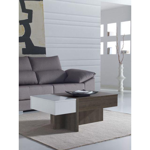Sofamobili Table basse relevable moderne Bevin